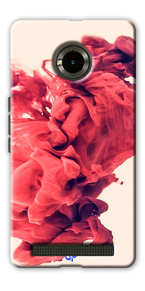 Digiprints Abstract Red Smoke Cloud Printed Designer Back Case Cover For Yu Yunique