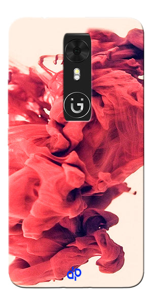 Digiprints Abstract Red Smoke Cloud Printed Designer Back Case Cover For Gionee A1