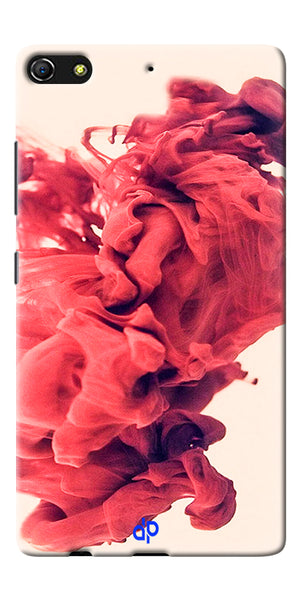 Digiprints Abstract Red Smoke Cloud Printed Designer Back Case Cover For Gionee Elife S7