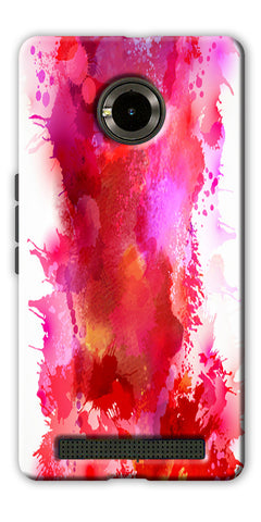 Digiprints multi color water color Printed Designer Back Case Cover For Yu Yuphoria