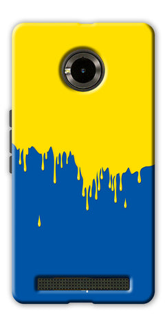 Digiprints dripping paint Printed Designer Back Case Cover For Yu Yunique