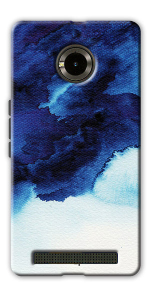 Digiprints Denim Printed background Printed Designer Back Case Cover For Yu Yuphoria