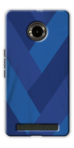 Digiprints cobalt blue back ground Printed Designer Back Case Cover For Yu Yuphoria