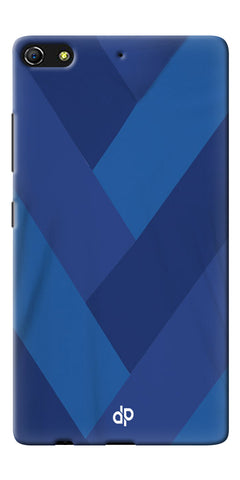 Digiprints cobalt blue back ground Printed Designer Back Case Cover For Gionee Elife S7