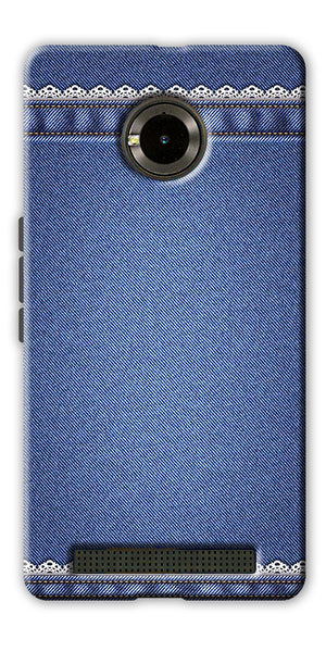 Digiprints cobalt blue Printed Designer Back Case Cover For Yu Yuphoria