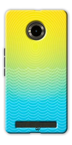 Digiprints Creative Sea Wate Printed Designer Back Case Cover For Yu Yuphoria