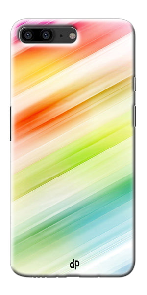 Digiprints Colorful background Printed Designer Back Case Cover For OnePlus 5