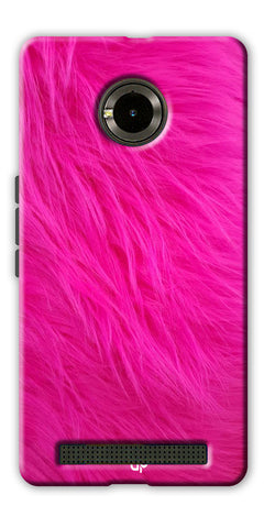 Digiprints PINK Printed Designer Back Case Cover For Yu Yuphoria