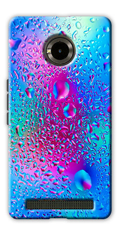 Digiprints colorful rainbow drop Printed Designer Back Case Cover For Yu Yuphoria