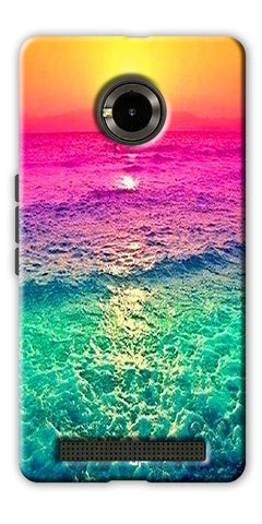Digiprints Sunset Printed Designer Back Case Cover For Yu Yuphoria