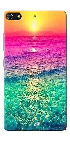Digiprints Sunset Printed Designer Back Case Cover For Gionee Elife S7