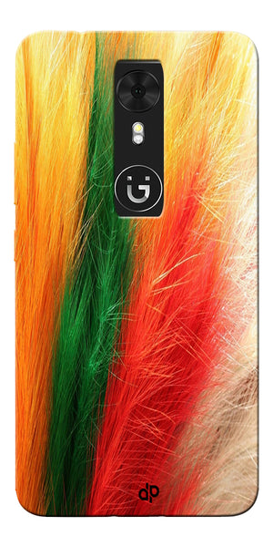 Digiprints colorful feathers design Printed Designer Back Case Cover For Gionee A1