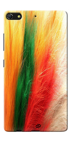 Digiprints colorful feathers design Printed Designer Back Case Cover For Gionee Elife S7