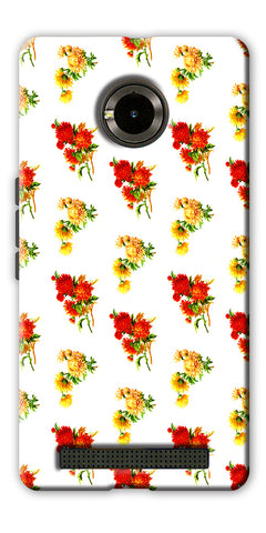 Digiprints flower background Printed Designer Back Case Cover For Yu Yuphoria