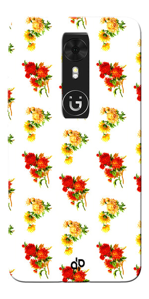 Digiprints flower background Printed Designer Back Case Cover For Gionee A1