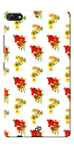 Digiprints flower background Printed Designer Back Case Cover For Gionee Elife S7
