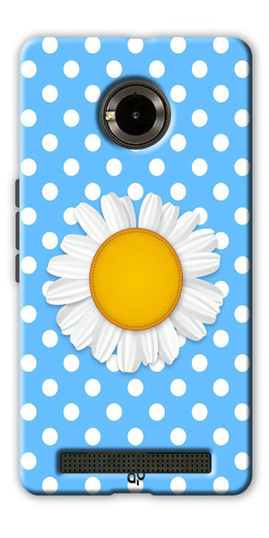 Digiprints flower Printed Designer Back Case Cover For Yu Yuphoria