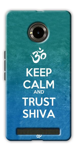 Digiprints Trust shiva Printed Designer Back Case Cover For Yu Yuphoria
