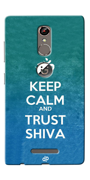 Digiprints Trust shiva Printed Designer Back Case Cover For Gionee S6s