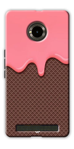 Digiprints Pink Melting Ice Cream Printed Designer Back Case Cover For Yu Yunique