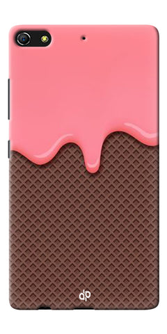 Digiprints Pink Melting Ice Cream Printed Designer Back Case Cover For Gionee Elife S7