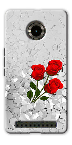Digiprints Love rose background Printed Designer Back Case Cover For Yu Yuphoria