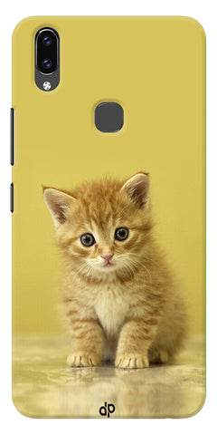 Cute Cat Printed Designer Back Case Cover For Vivo V9