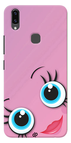 Pink Cartoon Design Printed Designer Back Case Cover For Vivo V9