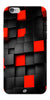 Digiprints Black And Red Cube Design Printed Designer Back Case Cover For Apple iPhone 6s