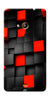 Digiprints Black And Red Cube Design Printed Designer Back Case Cover For Microsoft Lumia 540