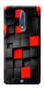 Digiprints Black And Red Cube Design Printed Designer Back Case Cover For Nokia 8