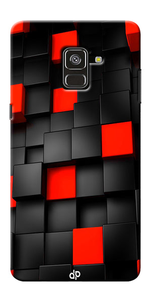 Black And Red Cube Design Printed Designer Back Case Cover For Samsung Galaxy A8 Plus 2018