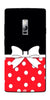 Digiprints Black And Red In Polka Dots Printed Designer Back Case Cover For OnePlus 2