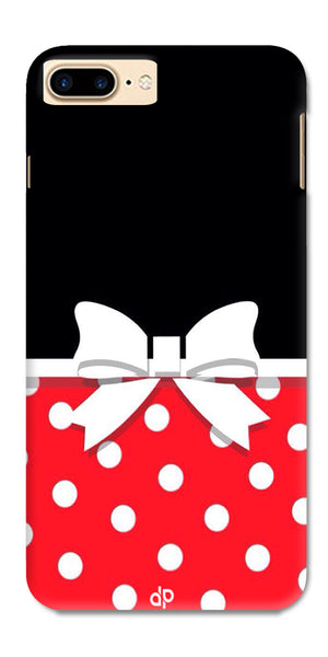 Digiprints Black And Red In Polka Dots Printed Designer Back Case Cover For Apple iPhone 7 Plus