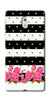 Digiprints Black & White Stripe And Pink Flower Design Printed Designer Back Case Cover For Nokia 5