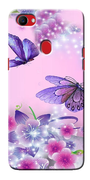 Digiprints Butterfly In Flowers Printed Designer Back Case Cover For Oppo F7