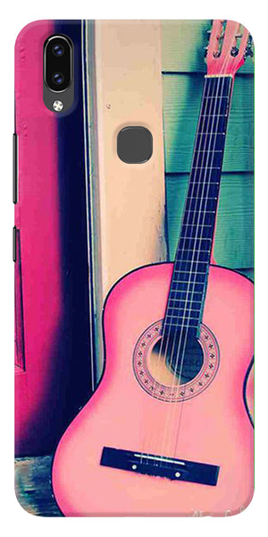 Pink Guitar Printed Designer Back Case Cover For Vivo V9