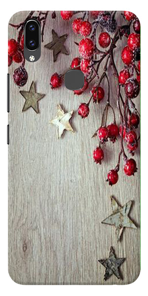 Cristmas Tree Wooden Pattern Printed Designer Back Case Cover For Vivo V9