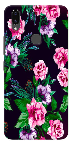 Rose Design Printed Designer Back Case Cover For Vivo V9
