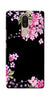 Digiprints Black Flower Art Printed Designer Back Case Cover For Lenovo K8 Plus