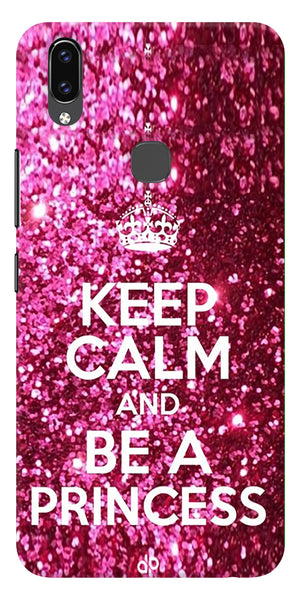 Keep Clam Be A Princess Quote Printed Designer Back Case Cover For Vivo V9