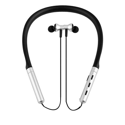 V35 Sports Wireless Headset/EarphoneS with Neck Band (Silver)