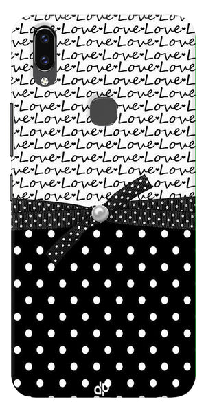 Love Design With Polka Dots Printed Designer Back Case Cover For Vivo V9