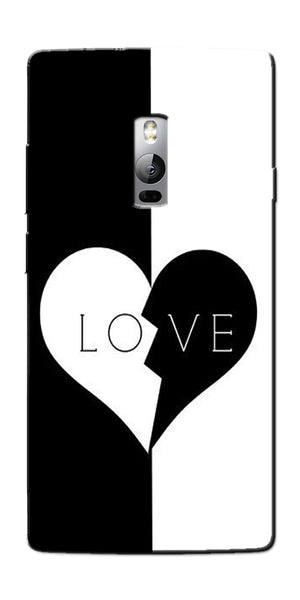 Digiprints Black And White Love  Printed Designer Back Case Cover For OnePlus 2