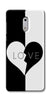 Digiprints Black And White Love  Printed Designer Back Case Cover For Nokia 6