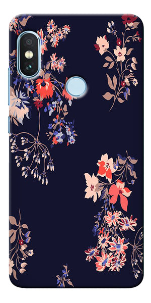 Red Ethetic Pattern Printed Designer Back Case Cover For Xiaomi Redmi Note 5 Pro