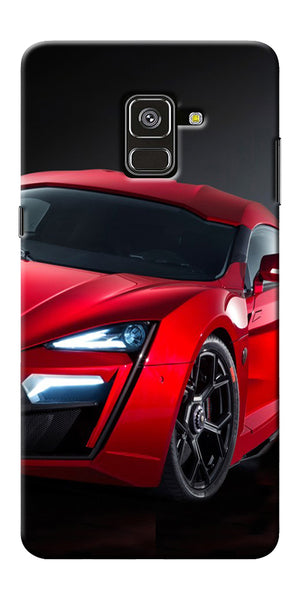huge selection of 3266b 0b16d Red Sport Car Printed Designer Back Case Cover For Samsung Galaxy A8 Plus  2018