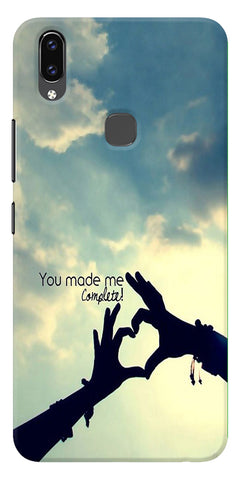 You Made Me Love Quotes Design Printed Designer Back Case Cover For Vivo V9