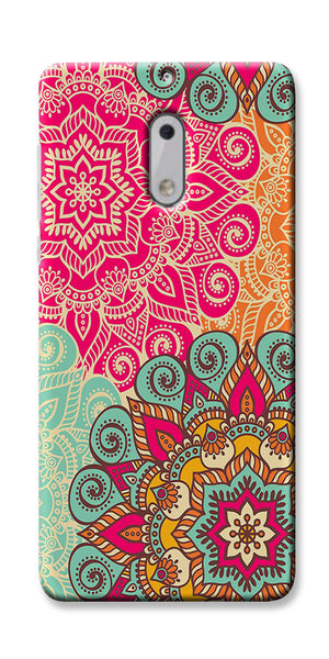 Digiprints Beautiful Ethnic Color Pattern  Printed Designer Back Case Cover For Nokia 6