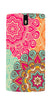 Digiprints Beautiful Ethnic Color Pattern  Printed Designer Back Case Cover For OnePlus 1